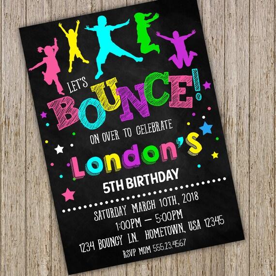 Bounce House Birthday Invitation Printable