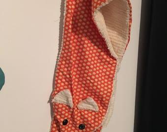 Handmade fox scarf
