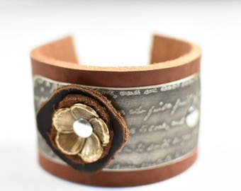 Artisan Leather Cuff Bracelet