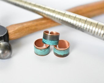 Copper Patina Cuff Ring