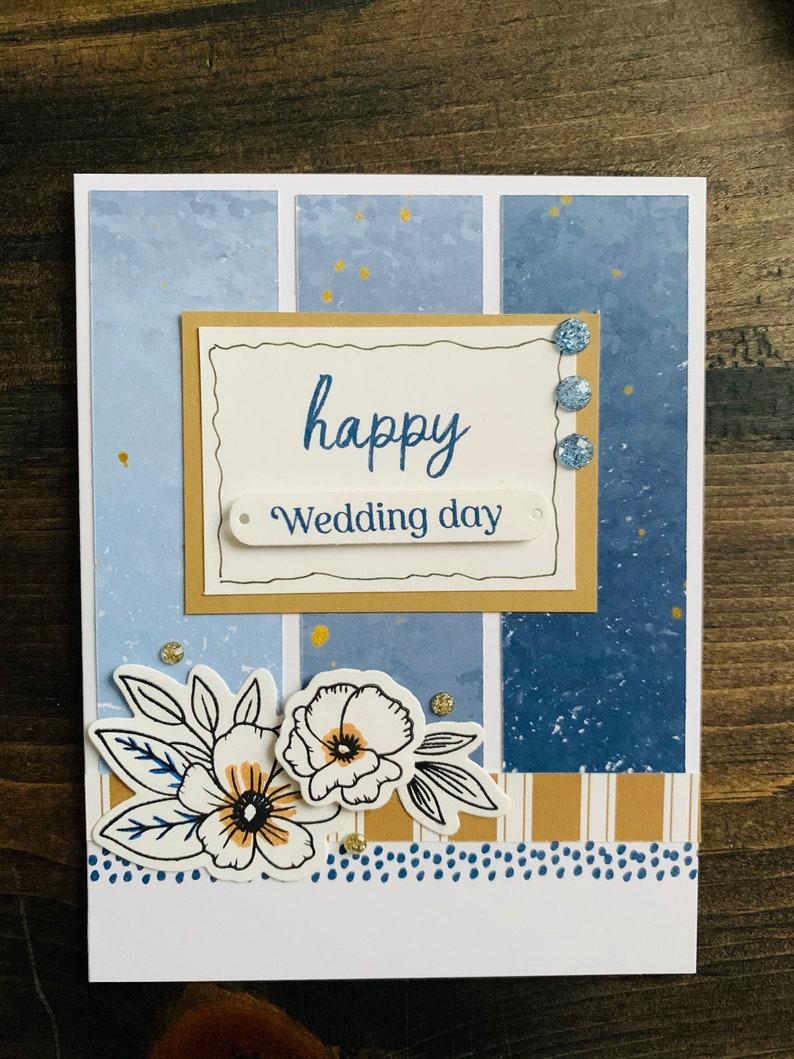 Celebration Celebrate Happy Wedding Wedding Happy Blank Card Floral Card Greeting Card
