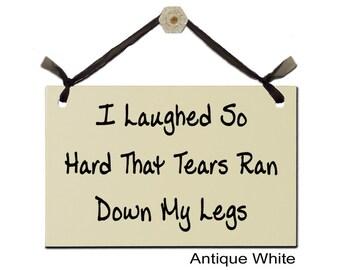 Pee ran down my legs
