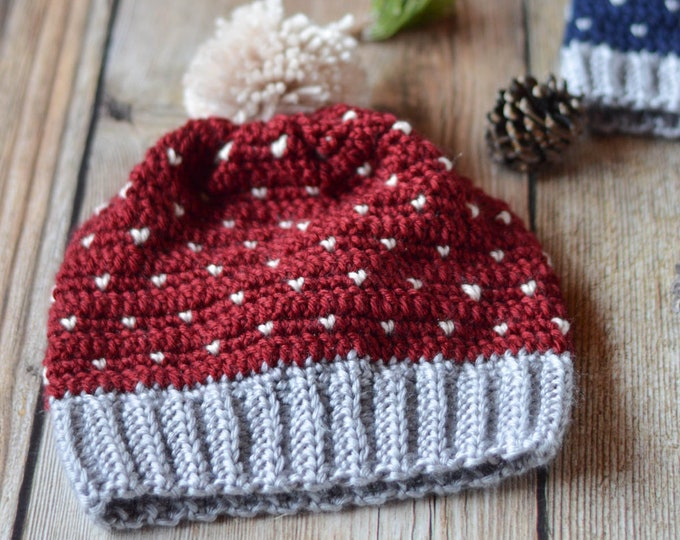 CROCHET PATTERN: Snowfall Slouchy Hat pdf DOWNLOAD