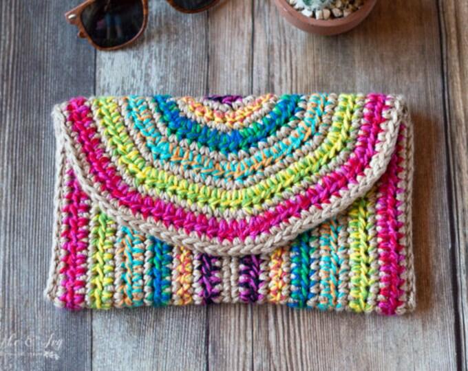 CROCHET PATTERN: Rica Crochet Clutch Pattern DOWNLOAD