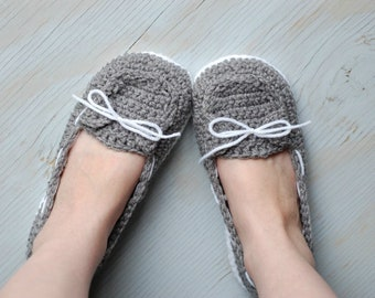 d863a7a4349 CROCHET PATTERN  Boat Shoes Slippers (PDF Download Pattern)