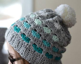 CROCHET PATTERN: Puppy Love Slouchy Hat pdf DOWNLOAD