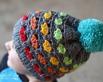 CROCHET PATTERN: Toddler Puppy Love Hat pdf DOWNLOAD
