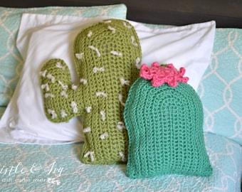 Cactus Pillows Crochet PATTERN PDF DOWNLOAD