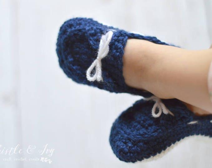 CROCHET PATTERN: Toddler Boat Slippers Crochet Pattern pdf DOWNLOAD