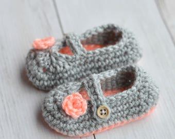 CROCHET PATTERN: Two Toned Mary Janes Crochet Pattern pdf DOWNLOAD