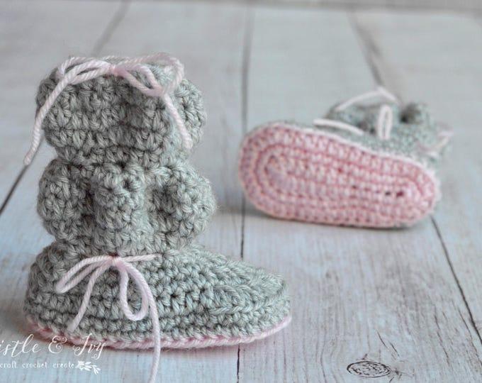 CROCHET PATTERN: Baby Bubble Boots Crochet pdf DOWNLOAD