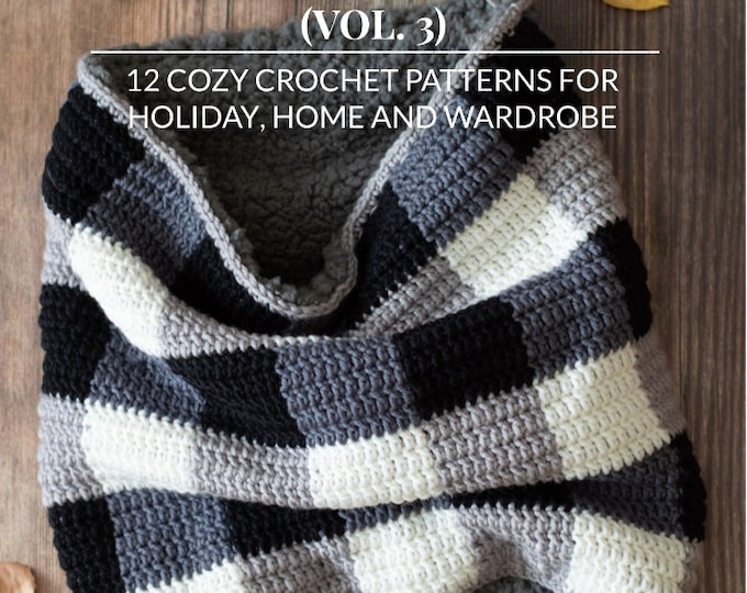 Crochet Pattern eBook: The Plaid Collection Vol. 3 - 12 Cozy Crochet Patterns For Holiday, Home and Wardrobe -Pattern eBook Digital Download