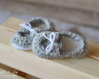 CROCHET PATTERN: Baby Boat Booties Crochet Pattern pdf DOWNLOAD