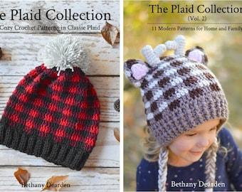eBOOK BUNDLE - The Crochet Plaid Collection + The Crochet Plaid Collection Vol. 2