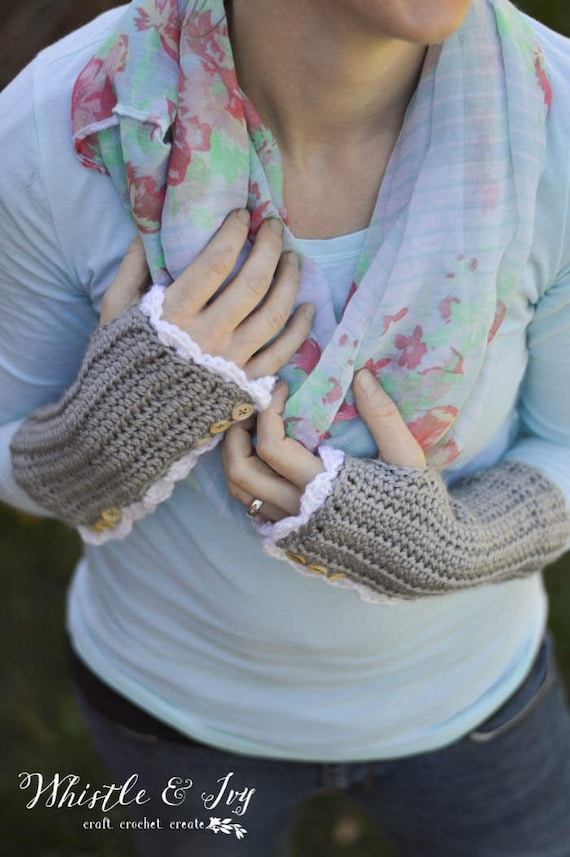 Vintage Inspired Arm Warmers Crochet Pattern Digital Download