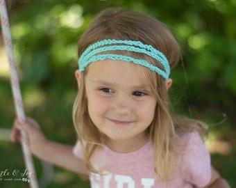 Crochet PATTERN: Boho Hippie Stretchy Crochet Headband Pattern - Modern Crochet Headband - Digital DOWNLOAD
