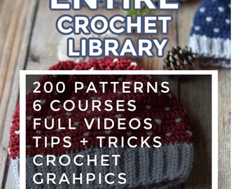 Monthly ENDLESS PATTERN Bundle Crochet Patterns - Digital Downloads - Entire Pattern Library Monthly Membership
