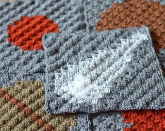 CROCHET PATTERN: c2c Solar System Blanket Crochet Pattern pfd DOWNLOAD