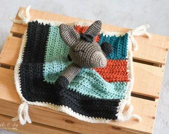 CROCHET PATTERN: Crochet Donkey Lovey for Baby  - DIGITAL Download