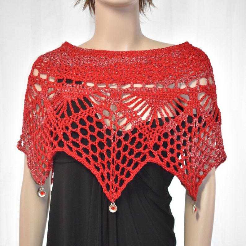Crochet Poncho Crochet Shawl Knit Poncho Knit Shawl image 0