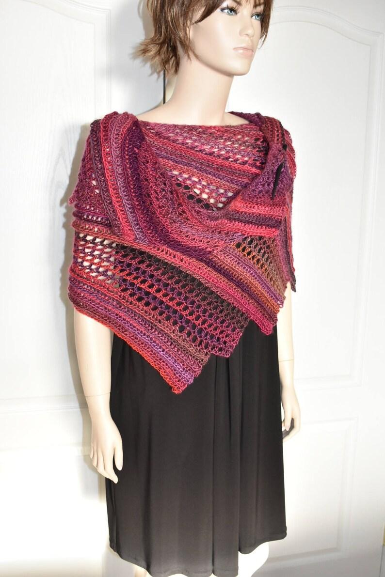 3218054fe0d7 Crochet Shawl Knit Shawl Evening Shawl Dressy Shawl Dragon | Etsy