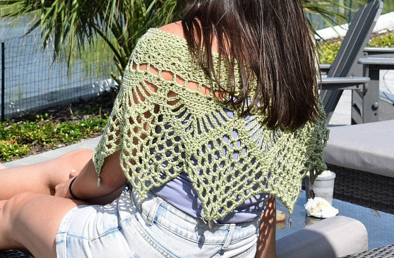 MADE TO ORDER Crochet Poncho With Charms Crochet Shawl image 0
