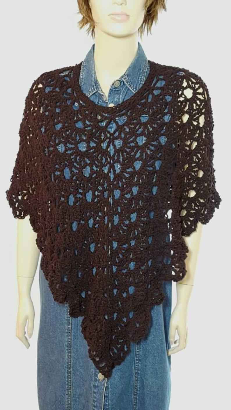 Crochet Poncho Crochet Shawl Crochet Sweater Knit Poncho image 0
