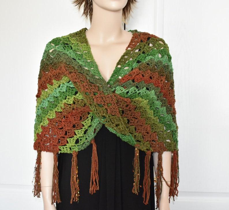 Crochet Poncho Knit Poncho Crochet Shawl Jacket Knit Ruana image 0