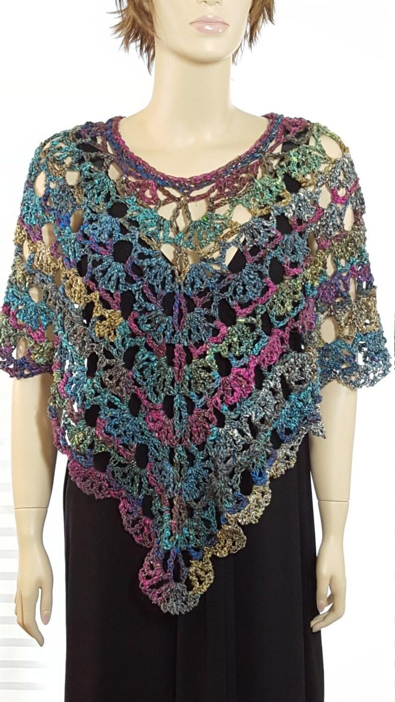 Crochet Poncho Crochet Shawl Crochet Shrug Knit Poncho image 0