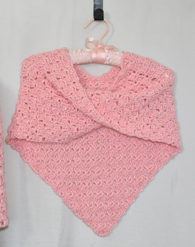 MADE TO ORDER Girl's Crochet Poncho Cape Sweater Jacket image 0