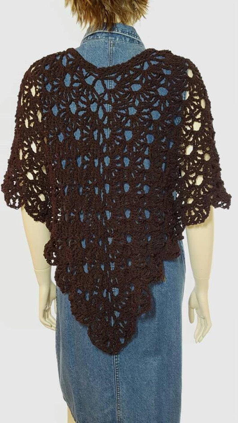 Crochet Poncho Knit Shawl Crochet Shawl Tunic Knit Sweater Pullover Wedding Shawl Knit Poncho Ruana Cape Crochet Sweater Coverup