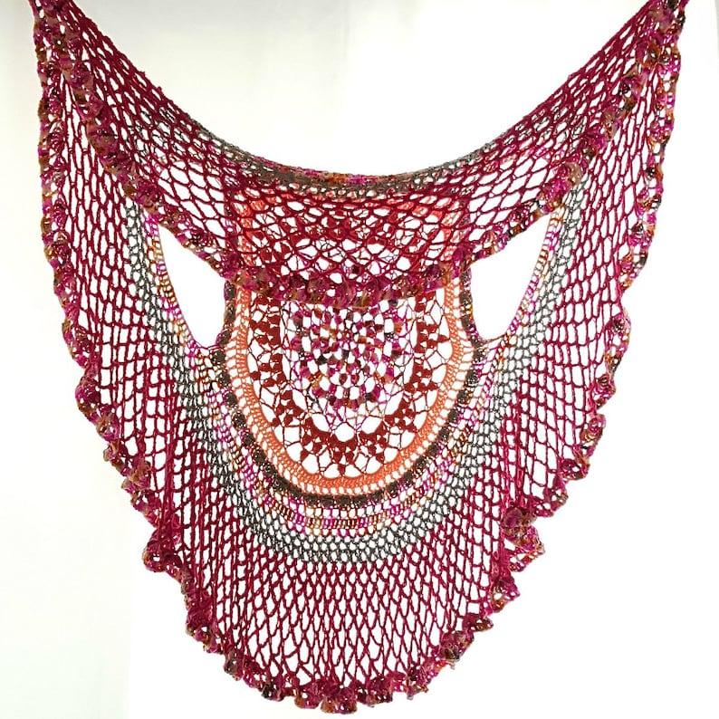 MADE TO ORDER Crochet Circle Vest Crochet Mandala Vest image 0