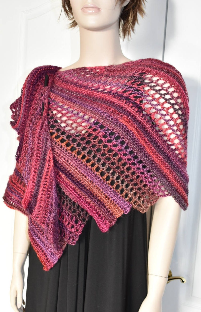 fe21765531b1f Crochet Shawl Knit Shawl Evening Shawl Dressy Shawl Dragon