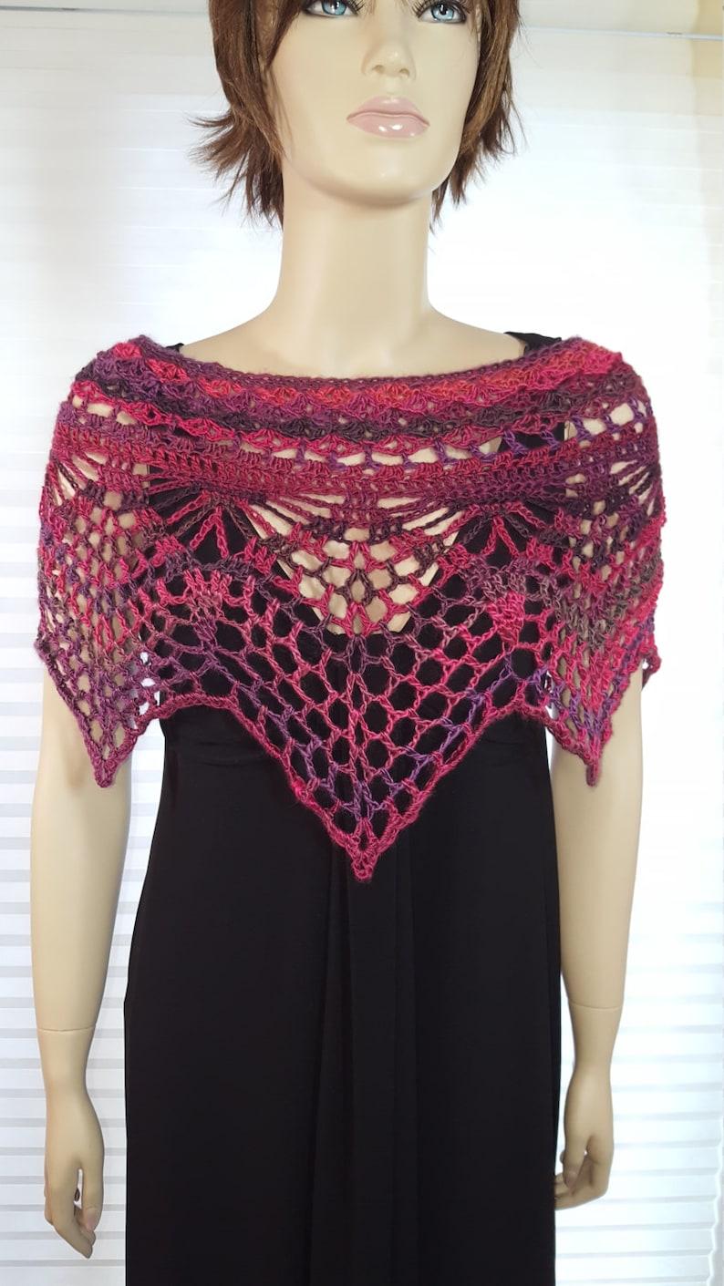 Crochet Poncho Crochet Shawl Crochet Top Crochet Shrug image 0