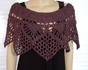Crochet Poncho, Crochet Shawl, Crochet Shrug, Crochet Top, Knit Poncho, Knit Shawl, Wedding Shawl, Pullover Sweater, Ponchette, Bridesmaid