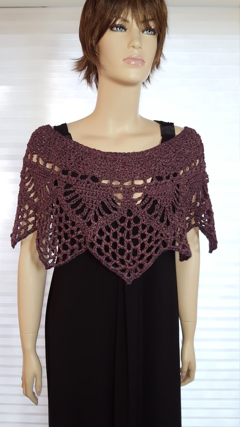 Crochet Poncho Crochet Shawl Crochet Shrug Crochet Top Knit image 0