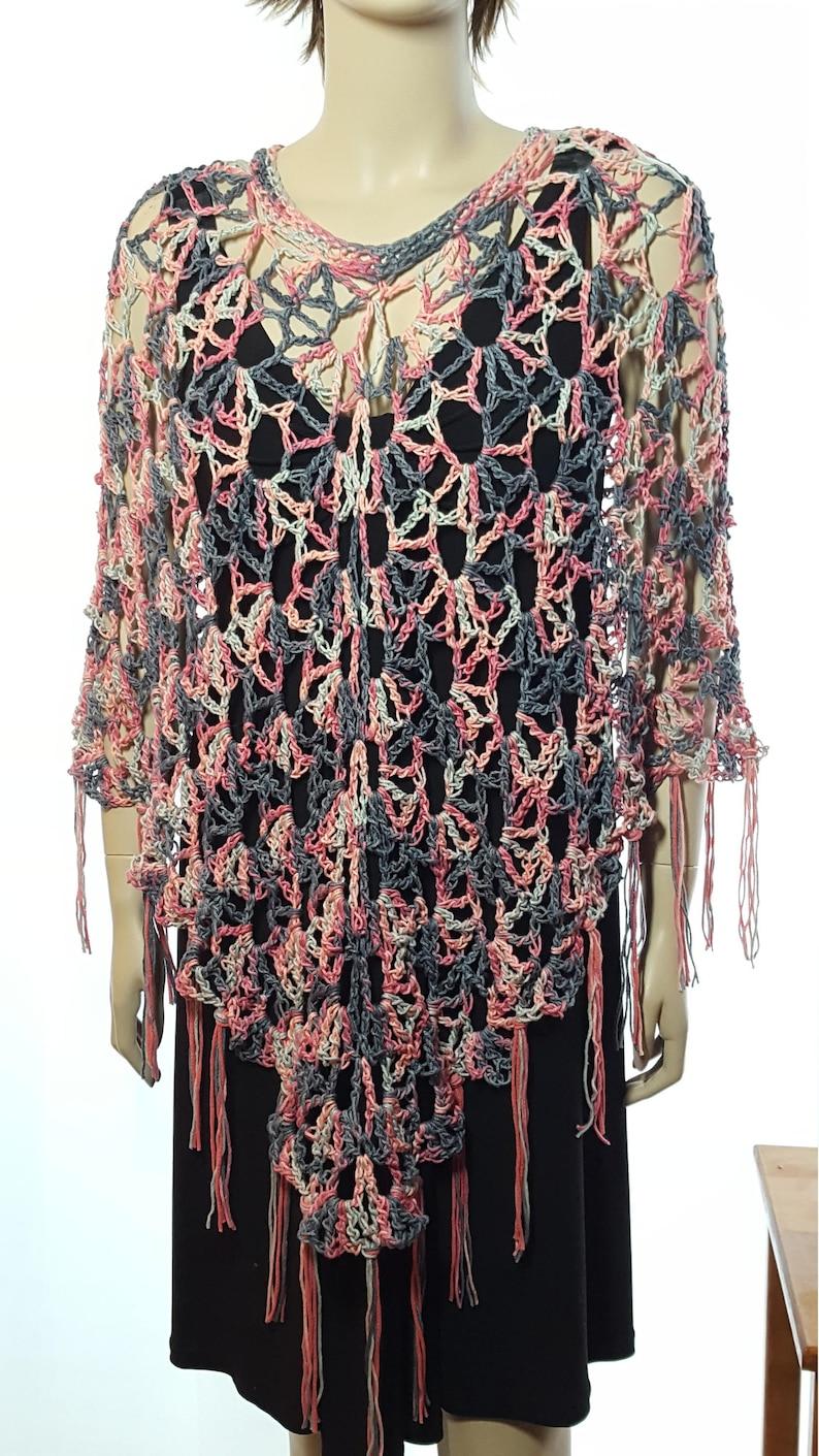 Crochet Poncho Crochet Shawl Boho Poncho Ruana Swim Suit image 0