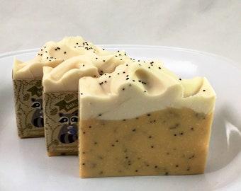 Lemongrass Mint Poppy Seed Palm Free Soap #336