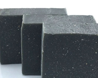 Tobacco & Bay Scent Handmade Soap with Activated Charcoal and Slate Kaolin Clay Palm Free #299