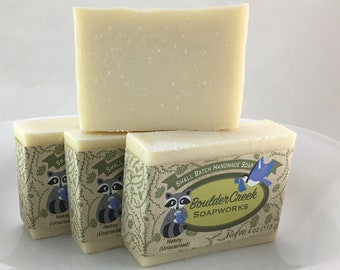 Nakey unscented uncolored cold process handmade soap gentle Batch #275