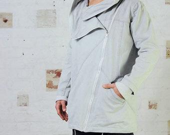 Hooded Jacket - Stonewash Trenchcoat, mens jacket, overcoat, unisex jacket, jacket, winter jacket.
