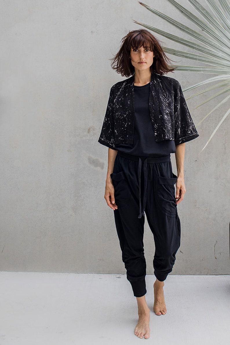 Kimono sleeve Handyed womans jacket open. croped jacket Linen Kimono Linen Summer Jacket summer jacket Kimono Jacket Linen Jacket