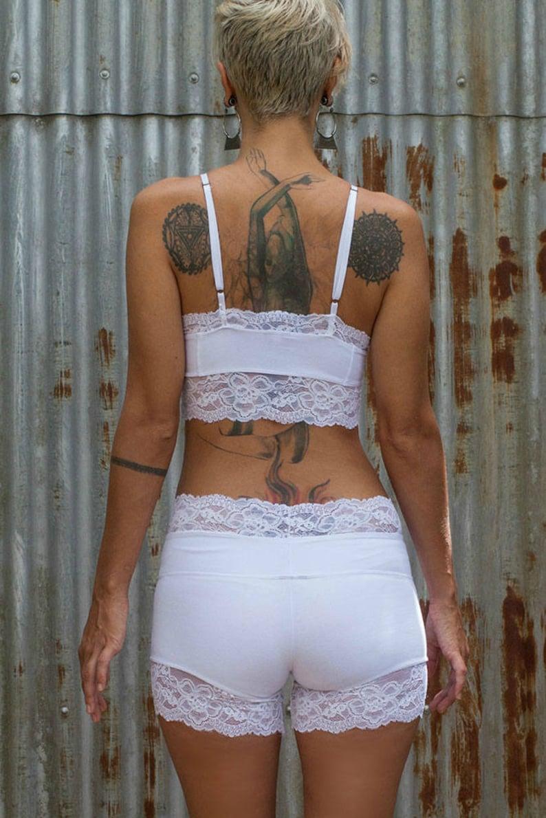 20a0d76a8bd48 Lacy Crop Top White Crop Top Yoga Top White Lace Bralette