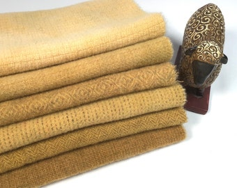 Straw Gold W584 Star Gold a mill dyed wool fabric for Rug Hooking and Applique Harvest Gold Fields of Gold