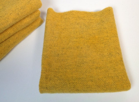 Fat 1/4 yard, Buttercup Yellow, Hand Dyed Wool,  W490, Rug Hooking Wool, Applique Wool, Bright Yellow, Sunshine Yellow