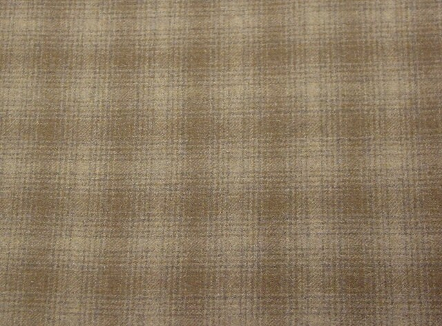 Mushroom Plaid Wool Fabric For Rug Hooking And Applique