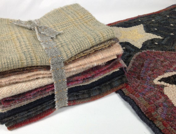 Wool Pack for Primitive Rug Hooking, Applique and Quilting, WP219, DIY Wool Fabric Pack, The Good Shepherd Wool Pack