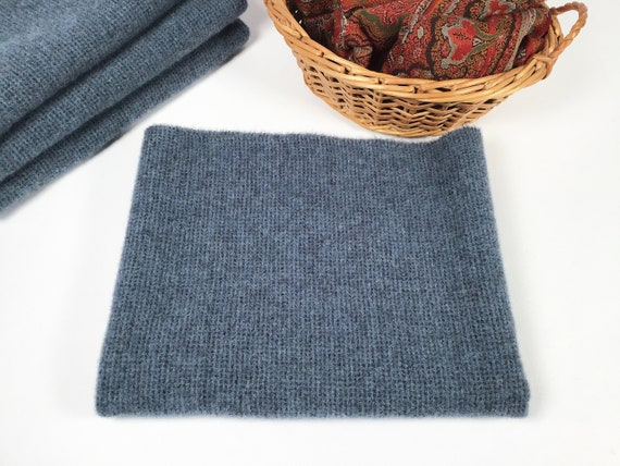 Fat 1/4 yard, Federal Blue, Mill Dyed Wool Fabric for Rug Hooking and Applique, W510, Patriot Blue, Country Blue, Tiny Texture Blue Wool