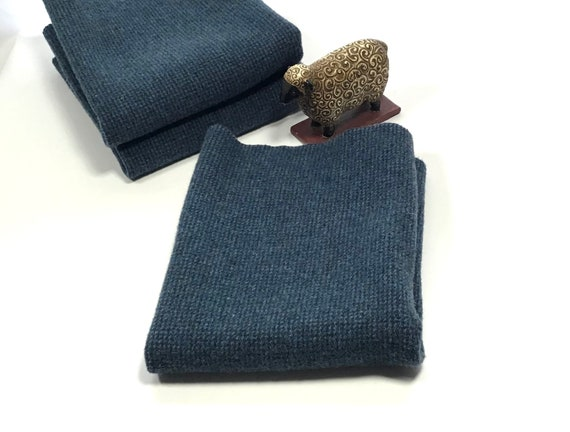 Penn's Blue, a mill dyed wool for rug hooking and applique, W599, Blue on Blue tiny texture, Patriotic Blue, Flag Blue