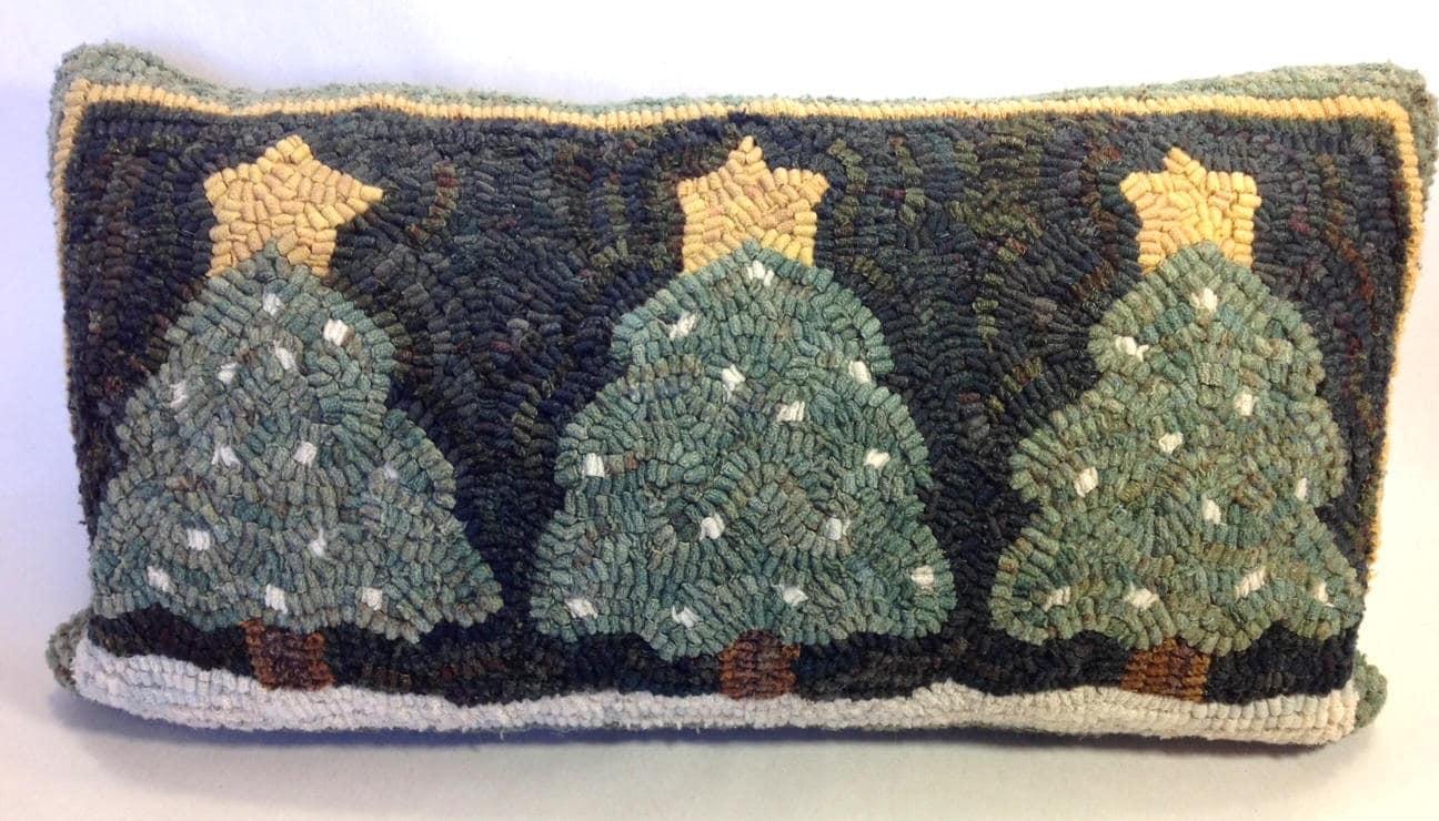 Rug Hooking Pattern Three Snowy Pines 10 X 20 J559